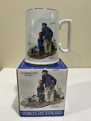 """Norman Rockwell Long John Silvers Coffee Cup """"looking Out To Sea"""" Vintage Nib"""