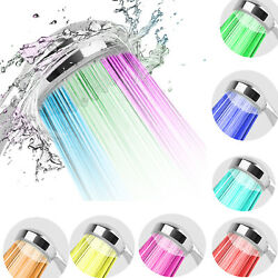 Home Bathroom 7 Colors Changing Led Shower Head Automatically Hydropower 6l/min