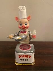VINTAGE PIGGY COOK BATTERY OPERATED TOY
