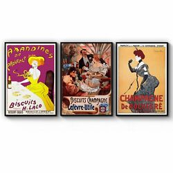 Set Of Vintage French Cafe Adverts Wall Art