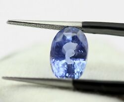 Natural Blue Sapphire Oval Faceted Cut 10 X 7 Mm 4.03 Ct Ceylon Gem Certified