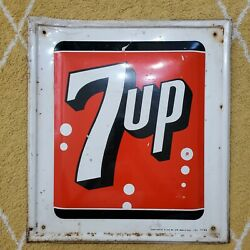 1960s 7 Up Advertising Stout Sign Co. 28 Usa Made Vintage 11-64 Soda Pepsi Cola