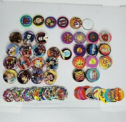 138 Pogs Collection With 6 Slammers 5 Plastic 1 Metal Excellent Condition Set
