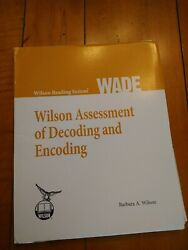 Wilson Reading System Wade, Barbara A. Wilson, Decoding And Encoding