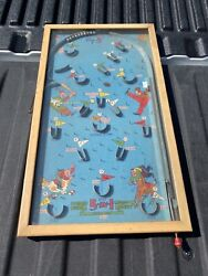 """Vintage 5 In 1 Poosh-m-up """"big 5"""" Game Tabletop Pinball Baseball Theme In Ct"""