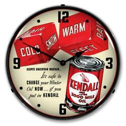 Kendall The 2000 Mile Motor Oil 14 Led Wall Clock