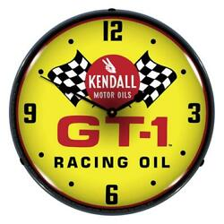 Kendall Gt-1 Racing Oil 14 Led Wall Clock