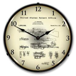 B.a.r. Browning Automatic Rifle 1919 Patent 14 Led Wall Clock