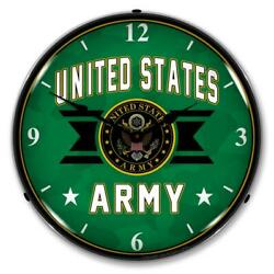 United Stated Army 14 Led Wall Clock