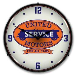United Motros Service For All Cars 14 Led Wall Clock