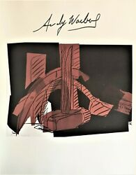 Andy Warhol Hand Signed Signature Hammer And Sickle  Print