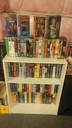 Large Vhs Tape Collection Lot With Many Top Movie Titles In Like New Condition