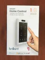 Brilliant Smart Home Control 1-light Switch Panel Bha120us-wh1 - Brand New