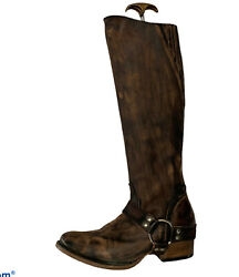 Freebird By Steve Sterling Riding Zipper Back Boots Womanandrsquos Size 8 Brown