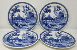 4 Spode Blue Room Collection Dinner Plates 10.5 Dinner Plate Made In England