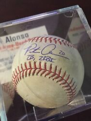 Pete Alonso Mlb Game Used Hit Double 19 Rbi 63/64 Auto Signed 2019 Roy