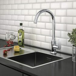 Yitahome Single Handle Hole Kitchen Sink Faucet High Arc Deck Mounted Bar Faucet
