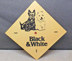Antique Holder Clock Advertising Black And White Scotch Whisky Collection