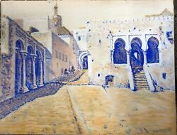 Tangier, 1904. Pastel Orientalist, Splendid Tan Signed And Dated