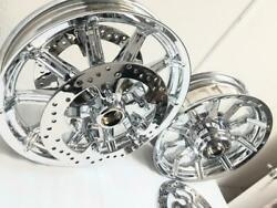 Harley Road King Touring Chrome Exchange Oem Wheels 14-19 W/front Rotors