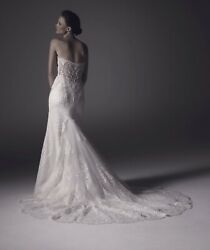 Amare Couture Wedding Dress Size 10 Retail 2091 Bought In 2018 Pre-owned