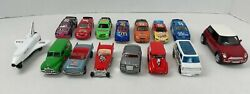 Lot Of 15 Hot Wheels And Assorted Other Cars Nascar Pull Back Shuttle Mini Cooper