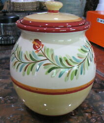 Southern Living At Home Gail Pittman Hand-painted Cannister - Siena