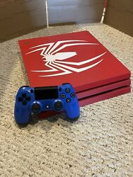 Sony Playstation 4 Ps4 Pro Spider-man 1tb - With Controller - Tested, Works