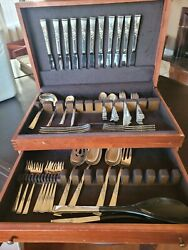 Reed And Barton Sterling Silver Flatware Set-excellent Condition. Classic Rose