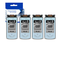4pk Pg40 Black Ink Cartridge For Canon Fax Series Jx200 Pixma Ip1800 Mp180 Mp470