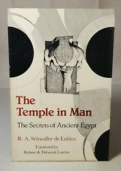 The Temple In Man Secrets Of Ancient Egypt By R.a. Schwaller De Lubicz 1977 Rare
