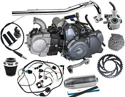Lifan 125cc Motor Engine 01234 Semi Auto Pit Dirt Bike Coolster+ Wires + Exhaust