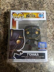 Funko Pop Marvel Black Panther Tand039chaka 867 Hollywood W/pop Protectorin Hand