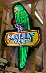 Garage Signs For Men / Polly Gas Neon Signs / Polly Gas Signs / Polly Gas Neon