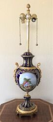 Marbro Rare Table Lamp - Exquisite Cobalt Blue French Table Lamp