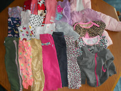 Lot Of 24 Baby Girls Size 12 Months Pants Long Sleeve Shirts Winter Coat