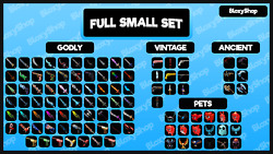 Roblox Murder Mystery 2 MM2 Small Set ALL godly ancient vintage weapons pet