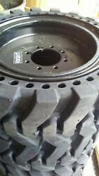 12x16.5 Solid Run Flat Skid Steer Tires Set Of 4 Free Shipping