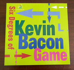 Six Degrees Of Kevin Bacon Board Game Vintage 1997 Complete Game Night Funny