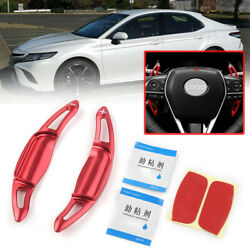 Red Steering Wheel Shift Paddle Shifter Extension For Toyota Camry 18-2020 Hs