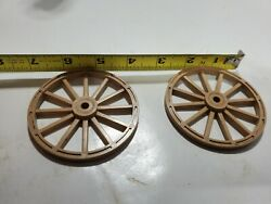 Original Back Wheels For Ideal Roy Rogers Stagecoach