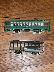 Ho Scale Model Trains 2 Classic Street Cars Powell And Mason / Desire St.  [g19]