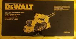 Dewalt D26676 3-1/4-in. Corded Portable Hand Planer - New In Box.