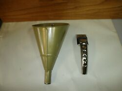 2 Vintage Plews Automotive Usa Oil Can Spout And Oil Can 2 In 1 Punch Funnel Lot