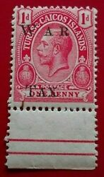 Turks And Caicos1919 Overprinted War Tax - 11mm Betwe. Rare And Collectible Stamp.