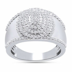 1 Cttw Solid 10k Gold Natural Diamond Micro Pave Engagement Men's Ring