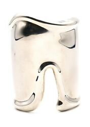 And Co. 1975 By Elsa Peretti Vintage Large Left Bone Cuff Sterling Silver