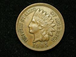 2021 Sale Au 1905 Indian Head Cent Penny W/ Diamonds And Full Liberty 134