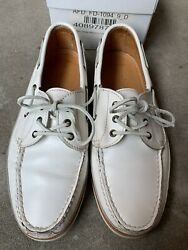Discontinued Alden Cape Cod Boat Shoe White Leather 9d Rejected
