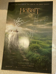 Sdcc 2012 The Hobbit Signed Poster